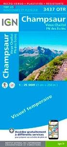 IGN - Champsaur, Vieux Chaillol, Parc national des Ecrins - 1/25 000, plastifiée-résistante.