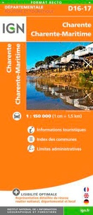 IGN - Charente, Charente-Maritime - 1/150 000.