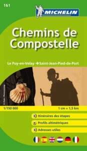 Michelin - Chemin de Compostelle, le Puy en Velay - Saint Jean Pied de Port - 1/150000.