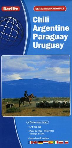 Berlitz - Chili - Argentine - Paraguay - Uruguay - 1/4 000 000.