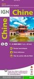 IGN - Chine - 1/4 000 000.