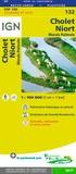 IGN - Cholet, Niort, Marais Poitevin - 1/100 000.