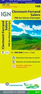 IGN - Clermont-Ferrand, Salers, PNR des Volcans d'Auvergne - 1/100 000.