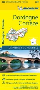 Michelin - Corrèze, Dordogne - 1/150 000.