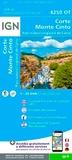 IGN - Corte, Monte Cinto, Parc naturel régional de Corse - 1/25 000.
