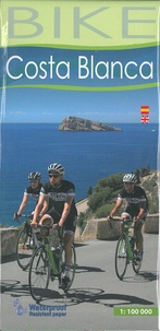 Alpina - Costa Blanca - Cycle map scale 1/100 000.