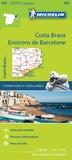 Michelin - Costa Brava, environs de Barcelone - 1/150 000.