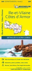 Michelin - Côtes d'Armor, Ille-et-Vilaine - 1/150 000.