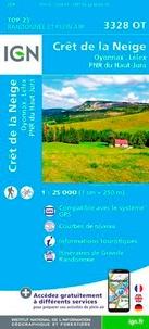 IGN - Crêt de la Neige, Oyonnax, Lélex, PNR du Haut-Jura - 1/25 000.