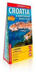 Express Map - Croatia & Montenegro, Adriatic Coast - 1/300 000.