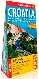 Express Map - Croatia - Solvenia, Bosnia and herzegovina, Serbia, Montenegro, Kosovo, Macedinia. 1/750 000.