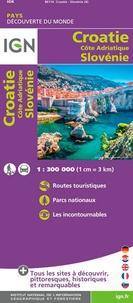 IGN - Croatie Côte Adriatique Slovénie - 1/300 000.