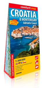 Express Map - Croatie & Montenegro, Adriatic Coast - 1/300 000.