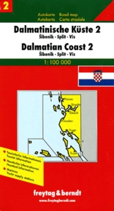 Freytag & Berndt - Dalmatinische Küste 2 : Dalmatian Coast 2 : Dalmatinski otoci 2 : Costa dalmata 2 - 1 : 100 000.