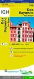 IGN - Dax, Bayonne, Pays Basque - 1/100 000.