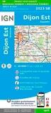 IGN - Dijon Est, Auxonne - 1/25 000.
