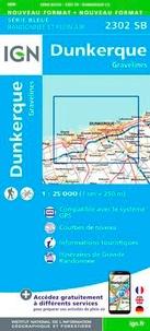 IGN - Dunkerque, Gravelines - 1/25 000.
