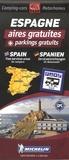 Michelin - Espagne aires gratuites + parkings gratuits - 1/1 000 000.