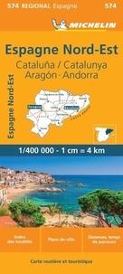 Michelin - Espana Noreste - Cataluna/ Catalunya, Aragon, Andorra. 1/400 000.