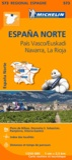 Michelin - Espana Norte - Pais Vasco / Euskadi, Navarra, La Rioja. 1/250 000.