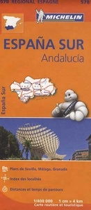 Michelin - Espana Sur, Andalucia - 1/400 000.