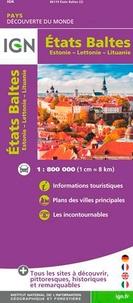 IGN - Etats Baltes - Estonie - Lettonie - Lituanie. 1/800 000.