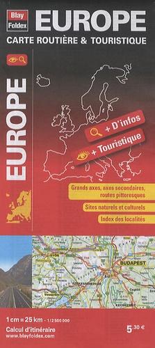 Blay-Foldex - Europe, carte routière et touristique - 1/2 500 000.