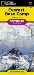 National geographic society - Everest Base Camp - 1/50 000, Waterproff, Tear-Resistant.