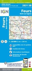 IGN - Feurs, Boën-sur-Lignon - 1/25 000.