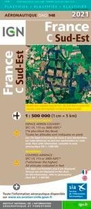 IGN - France C Sud-Est plastifiée - 1/500 000.