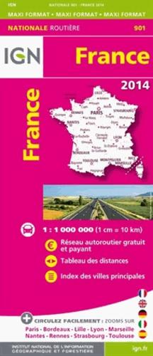 IGN - France maxi format - 1/1 000 000.