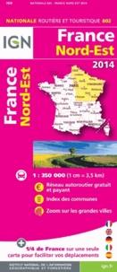 IGN - France Nord-Est - 1/350 000.