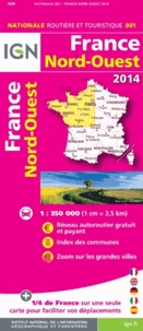 IGN - France Nord-Ouest - 1/350 000.