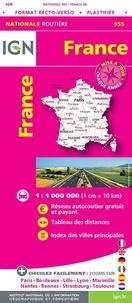 IGN - France plastifiée format recto-verso - 1/1 000 000.