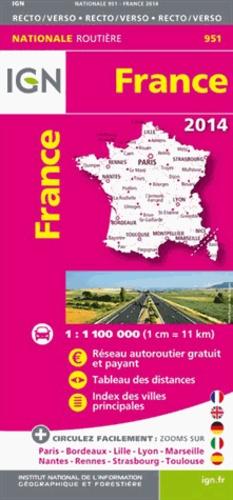 IGN - France Recto/verso - 1/1 100 000.