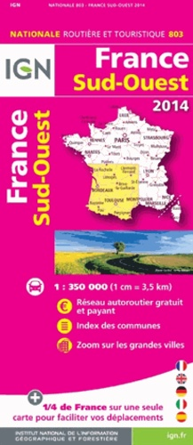 IGN - France Sud-Ouest - 1/350 000.