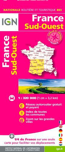 IGN - France Sud-Ouest - 1/320 000.
