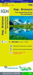 IGN - Gap, Briançon, Parc national des Ecrins, Parc du Queyras - 1/100 000.