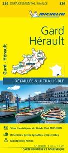 Michelin - Gard, Hérault - 1/150 000.