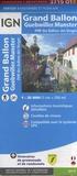 IGN - Grand Ballon Guebwiller Munster, PNR des Ballons des Vosges - 1/ 25 000.