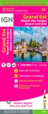 IGN - Grand Est, Massif des Vosges Alsace Lorraine - 1/250 000.