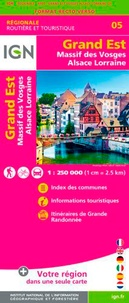 IGN - Grand Est, Massif des Vosges, Alsace Lorraine - 1/250 000.
