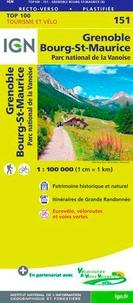 IGN - Grenoble, Bourg-saint-Maurice, Parc national de la Vanoise - 1/100 000.