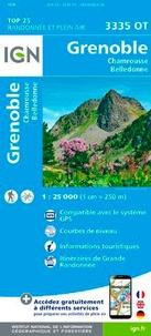 IGN - Grenoble, Chamrousse, Belledonne - 1/25 000.