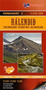 Ferdakort - Halendid (Islande) Le Haut Pays - 1/250 000.