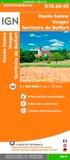 IGN - Haute-Saône Vosges Territoire de Belfort - 1/150 000.