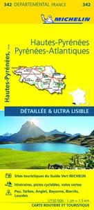 Michelin - Hautes-Pyrénées, Pyrénées-Atlantiques - 1/150 000.