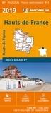 Michelin - Hauts-de-France - 1/200 000 - indéchirable.