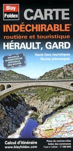 Blay-Foldex - Hérault, Gard - Carte indéchirable 1/180 000.