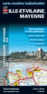Blay-Foldex - Ille et Vilaine, Mayenne - 1/180 000.